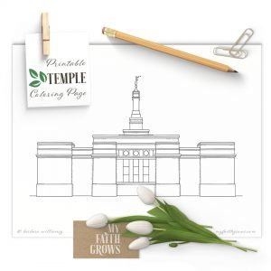 Image of Columbus Ohio Temple coloring page