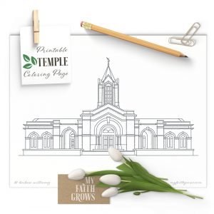Fort Collins Colorado Temple printable coloring page