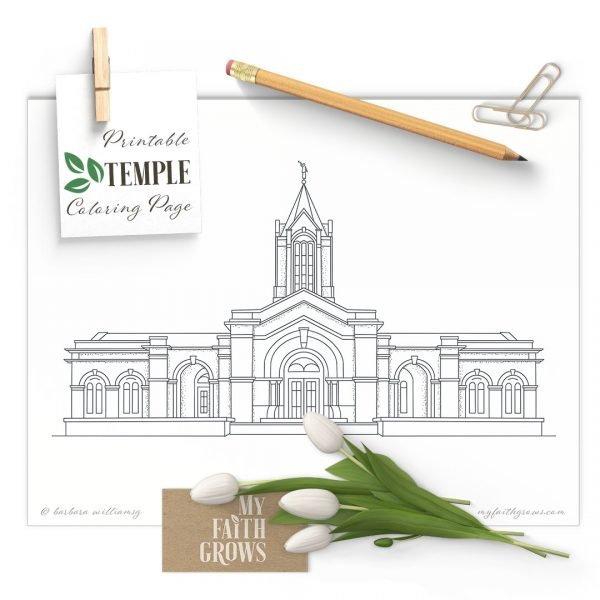 Fort Collins Colorado Temple printable coloring page