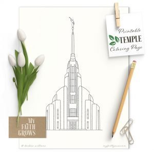 Image of Rome Italy Temple Printable coloring page