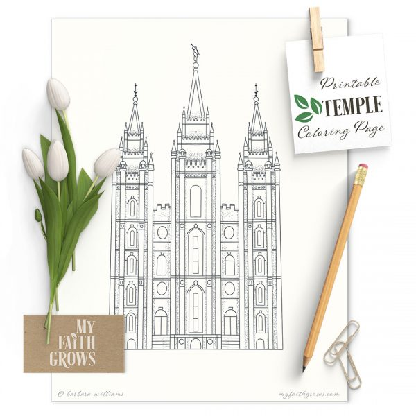 Drawing of the Salt Lake Temple