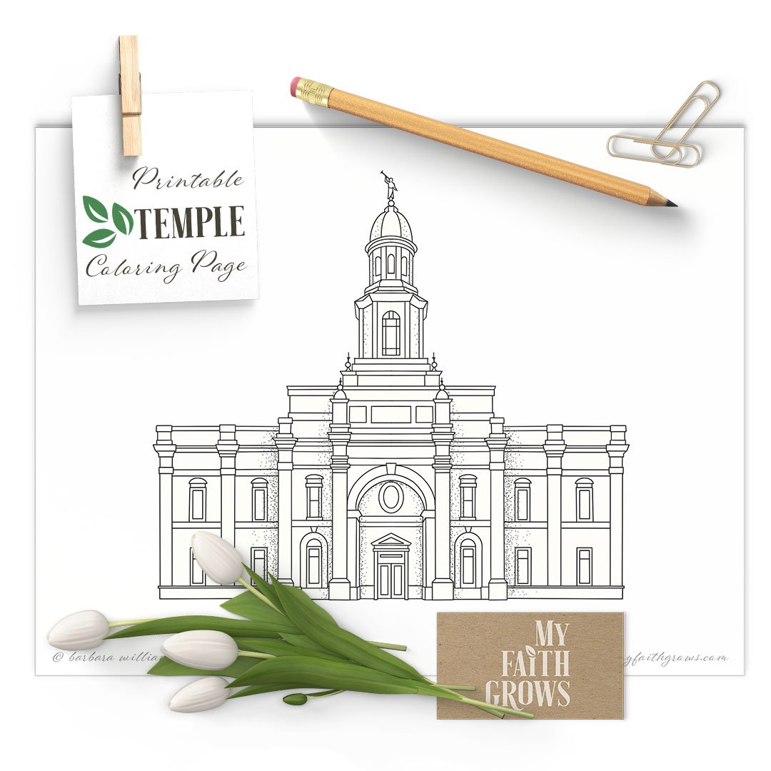 Concepcion Chile Temple Printable Coloring Page My Faith Grows