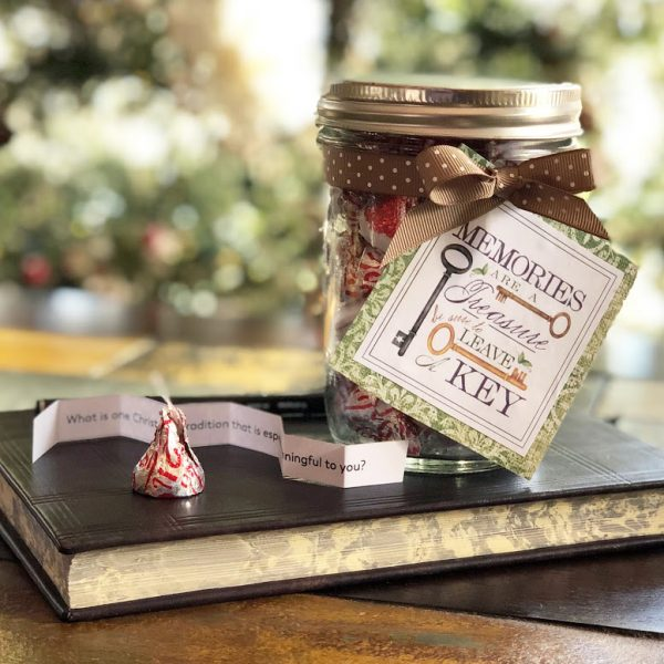 Memory prompts packaged as Christmas gift
