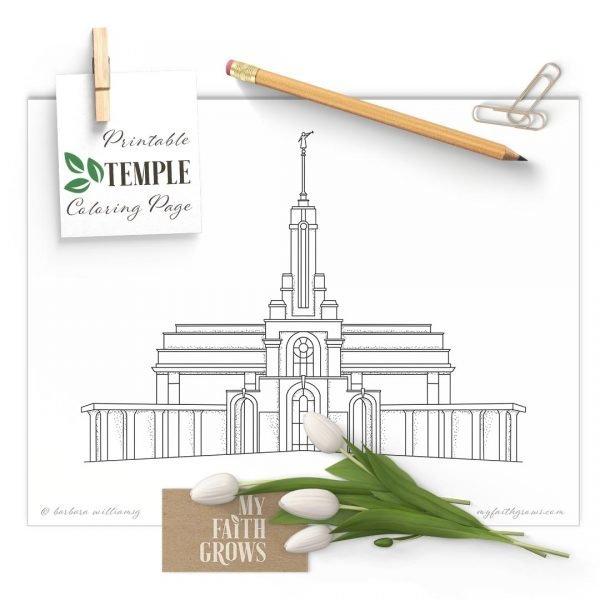 Mount Timpanogas Temple Coloring Page