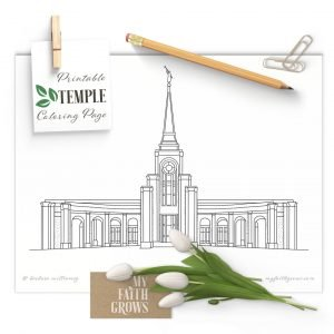 Mockup of Fort Lauderdale Temple Coloring Page