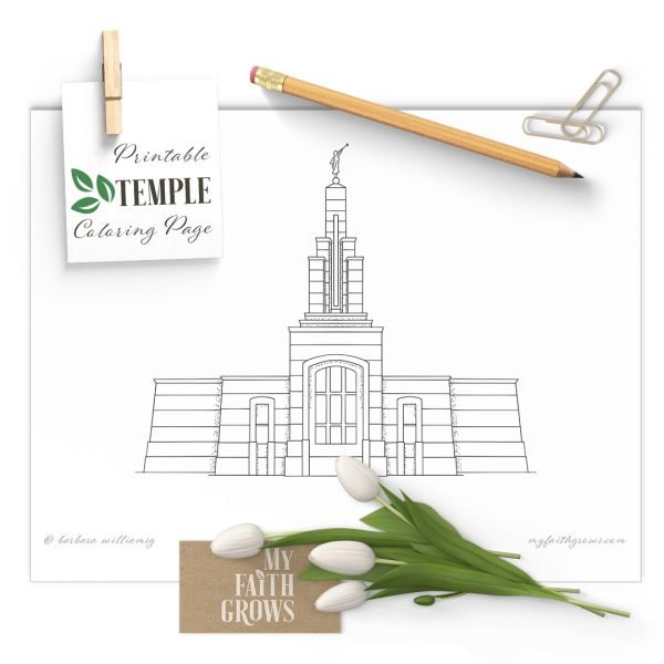 Accra Ghana Temple of the Church of Jesus Christ of Latter-day Saints - coloring page